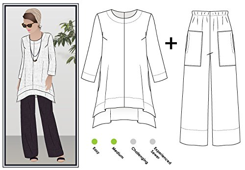 Big Save! Style Arc Sewing Pattern - Daisy Designer Pant and Tunic Outfit (Sizes 04-16) - Click for ...
