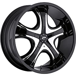 Platinum Patriarch 18 Black Wheel / Rim 5×120 & 5×4.5 with a 42mm Offset and a 74 Hub Bore. Partnumber 416-8807B+42