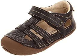 Stride Rite SRT SM Calf Sandal (Infant/Toddler),Dark Brown,2 W US Infant