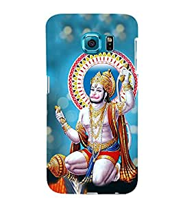 Anjaneya 3D Hard Polycarbonate Designer Back Case Cover for Samsung Galaxy S6 :: Samsung Galaxy S6 G920