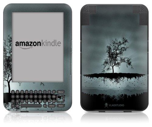 DecalGirl Kindle Skin (Fits Kindle Keyboard) Flying Tree Black (Matte Finish)