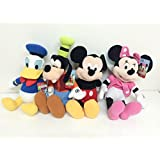 """Disney Mickey Mouse, Minnie Mouse, Goofy And Donald Duck Plush 15"""""""