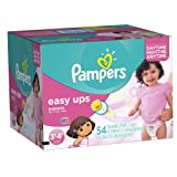 Pampers Easy Ups Girls Size 3T4T Big Pack 54 Count (Packaging May Vary)