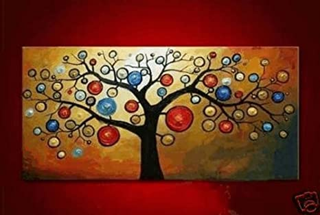 Abstract Wall Art on Canvas Abstract Wall Art Tree of Life