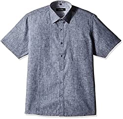 Greenfibre Men's Formal Shirt (49KT_42_Ash Grey)