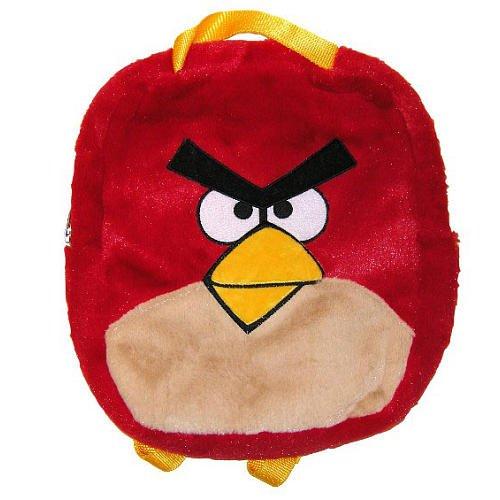 Imagen de Angry Birds de peluche Mochila Roja