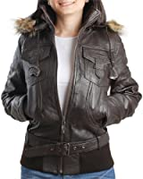 Eagle Square - Blouson - Top Ten Cuir Marron - Marron