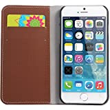 WAWO Leather Wallet Flip Case, Brown