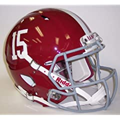 Alabama Crimson Tide #15 Riddell Speed Revolution Full Size NCAA Authentic Football... by Creative Sports