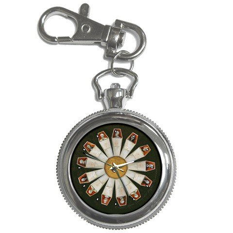 Limited Edition Nero Corvo Keychain Pocket Watch Goth Daisy Skulls