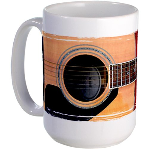 Cafepress Acoustic Guitar Large Mug - Standard