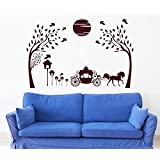 Hoopoe Decor Beautiful Nature With Horse And Jungle Wall Stickers And Decals - B011GSI2TU