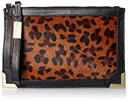 Foley + Corinna Frankie Wristlet Clutch, Leopard Hair Calf, One Size
