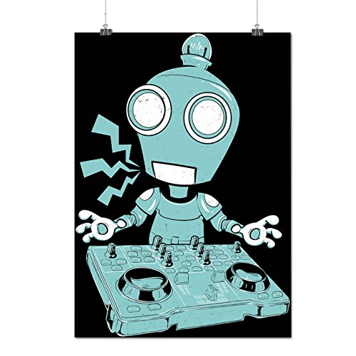 DJ Robot Turntable CD Rave Decks Matte/Glossy Poster A2 (17x24 inches) | Wellcoda (Dj Turntable Ring compare prices)