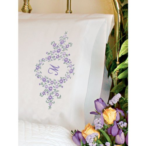 Dimensions Needlecrafts Embroidery, Daisy Monogram Pillow Cases front-360247