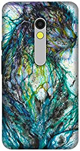 The Racoon Lean printed designer hard back mobile phone case cover for Motorola Moto X Play. (multicolor)