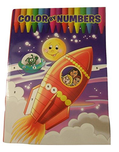 Color by Numbers Coloring Book ~ Outerspace Cover (2012) - 1