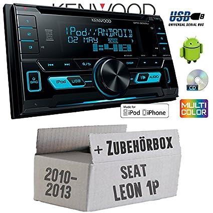 Seat Leon 1P FL 2DIN - Kenwood DPX-3000U - 2DIN USB CD MP3 Autoradio - Einbauset