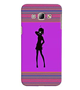 Fuson 3D Printed Girly Designer back case cover for Samsung Galaxy A8 - D4263