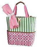 Mud Pie Big Bundle Tote Bag, Pink