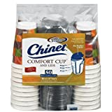 Chinet Comfort Cup (16-Ounce Cups), 50-Count Cups & Lids ~ Chinet