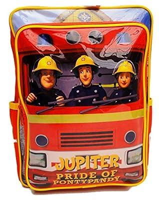 Feuerwehrmann Sam Feuerwehrauto Jupiter Rucksack Schultasche Schule Kinder 3-6 Jahre Rot