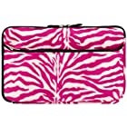 Pink Zebra Neoprene Sleeve Protective Glove Cover for HTC Jetstream 10.1-inch Android 3.1 Wireless Tablet (HTC Puccini)