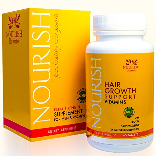 Nourish Beaute Hair Loss Supplement - With Biotin and Natural DHT Blockers - Faster, Thicker Hair Regrowth for Men and...