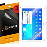 SUPERSHIELDZ- High Definition (HD) Clear Screen Protector for Samsung Galaxy Tab 3 10.1 inch + Lifetime Replacements Warranty [3-PACK] - Retail Packaging