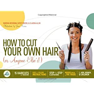 how to cut your own hair step by step pictures