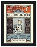 Ind Coope Ales - Framed Print 32x42cm Black