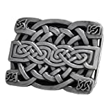 Buckle Rage Silver Irish Celtic Knot Mesh Design Belt Buckle One Size