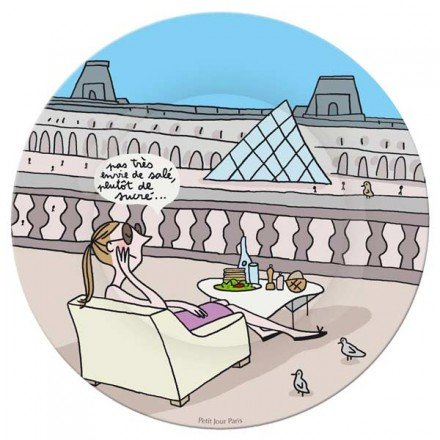 Teller im Louvre Ölmalfarben kleinen Tag