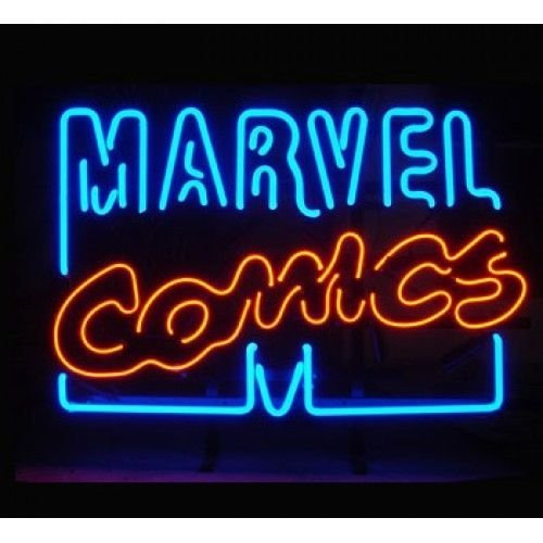 Vintage MARVEL COMICS Neon Sign Neon Light Sign Real Glass Tube Beer Bar Pub 19x15 (Vintage Neon Sign compare prices)