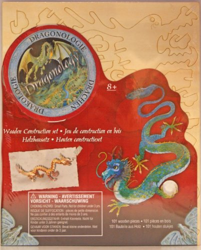Dragonology Asian Lung Dragon Wooden Construction Kit - 1