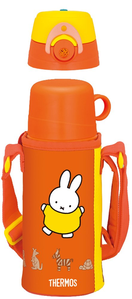 Thermos Vacuum Insulation 2WAY Bottle Miffy 0.63L/0.6L Red (FFG-600WFB R)