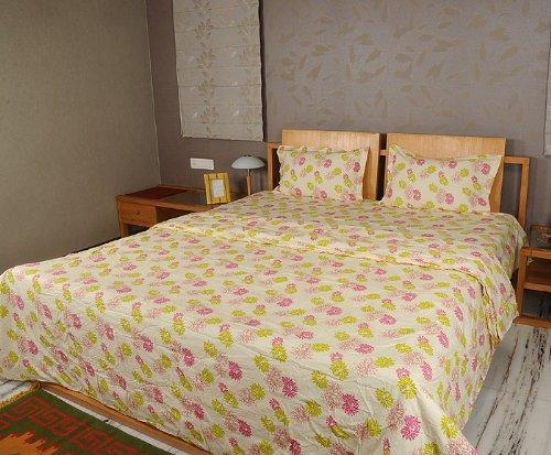 Imagen 3 de Inicio Diseño decorativo Victoria Bed Spread hoja de cama Set With One Quilt y fundas de almohada a juego
