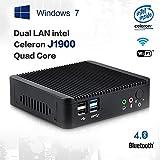 Mini PC Dual Lan Intel Windows 7 Intel Celeron J1900 Smart TV Box Micro Desktop (4GB DDR3 RAM 64GB SSD, Intel...