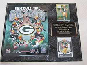 Green Bay Packers All Time Greats 2 Card Collector Plaque w 8x10 Photo by J & C Baseball Clubhouse