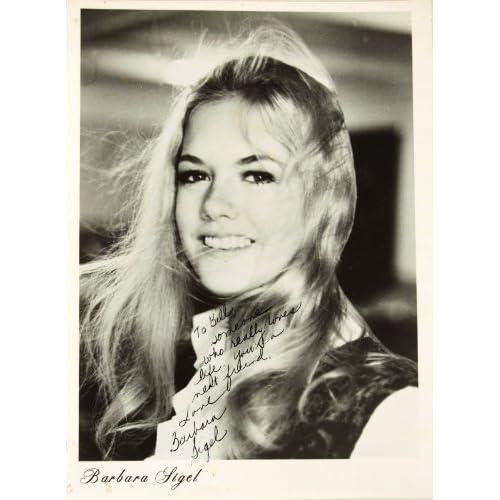 Barbara Sigel Signed vintage 8x10 B&W Photo - Inscribed - Signed in