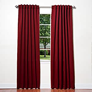 Best Home Fashion Thermal Insulated Blackout Curtains Back Tab Rod Pocket