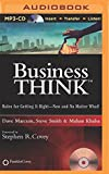 img - for businessThink: Rules for Getting It Right--Now and No Matter What! book / textbook / text book