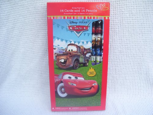 Disney Pixar Cars Valentines with Pencil