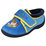 BOYS CLARKS DOODLES SLIPPERS STYLE-SAURUS DREAMS BLUE