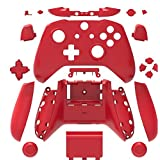 Canamite Replacement Parts Full Housing Shell Protective Case Cover Button Kit for Xbox ONE Slim Controller (Red) (Color: Red)