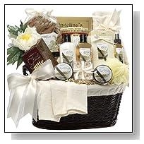 Art of Appreciation Gift Baskets Essence of Luxury Vanilla Spa Bath and Body Gift Set