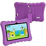 KOCASO [7 INCH] Quad Core [Android 4.4 KitKat] Kids HD Tablet PC- 8GB Storage W/ 32GB Expandable Memory, 1024x600, Dual Camera, WiFi/Bluetooth, Micro USB/SD Card Slot & FREE ACCESSORIES- Purple