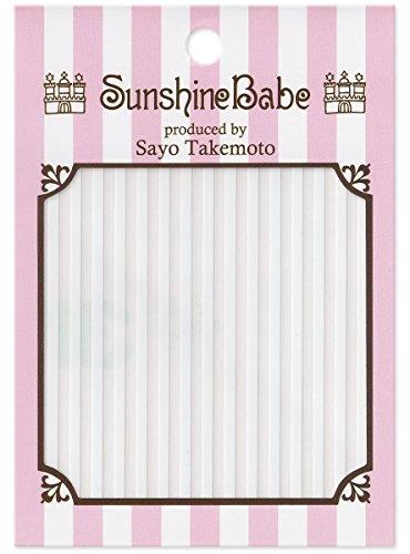 SunshineBabe ネイルシール ストライプ 白 2mm