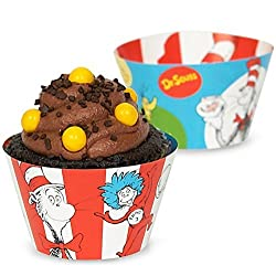 Dr Seuss Party Supplies - Cupcake Wrappers (12)