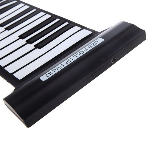 Kingzer 88 Keys Professional Flexible Usb Roll-Up Electronic Piano Keyboard